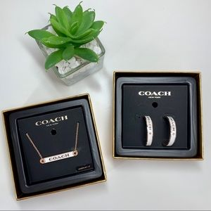 NWT COACH Earring & Necklace set